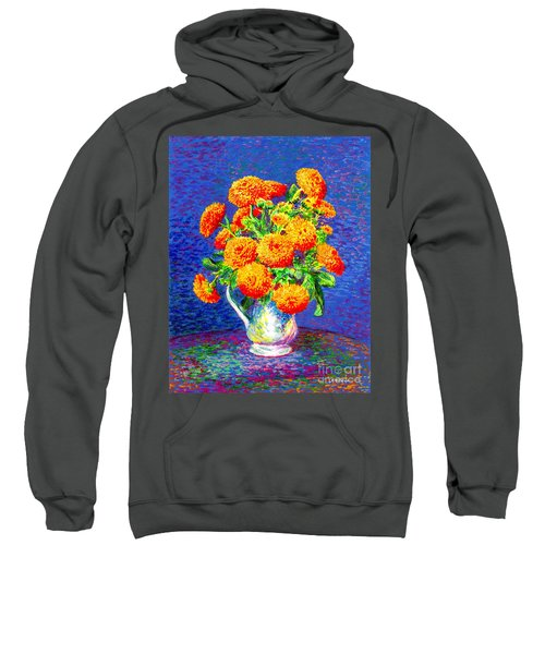 Gift Of Gold, Orange Flowers Sweatshirt