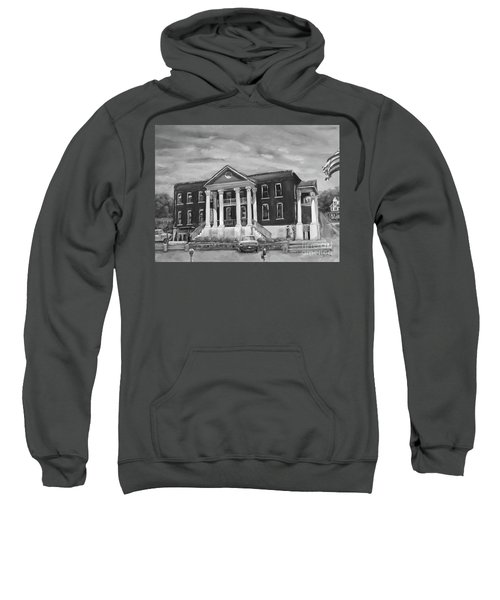 Gilmer County Old Courthouse - Black And White Sweatshirt
