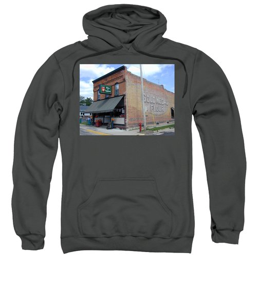 Sweatshirt featuring the photograph Gina's Pies Are Square by Mark Czerniec