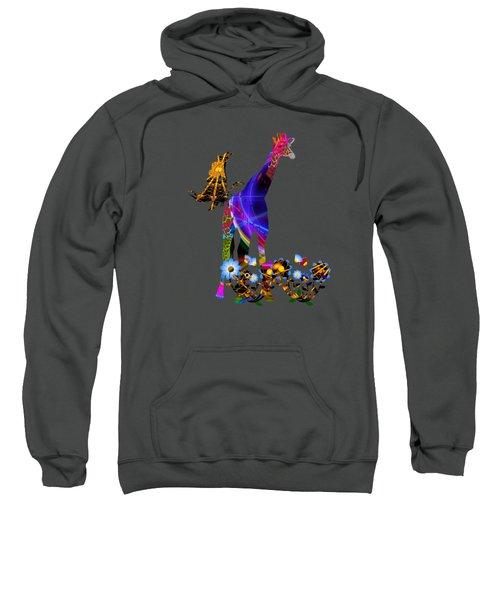 Giraffe And Flowers Sweatshirt
