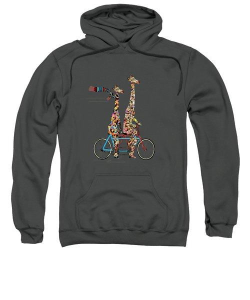 Giraffe Days Lets Tandem Sweatshirt by Bri B