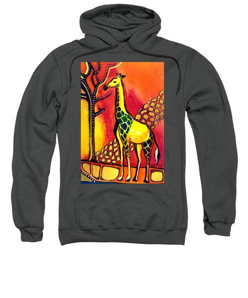 Giraffe With Fire  Sweatshirt