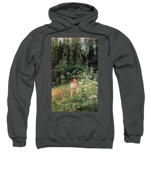 Girl Among The Wild Flowers Sweatshirt