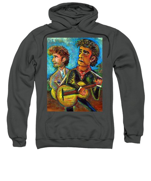 Girl From North Country Johnny Cash And Bob Dylab Sweatshirt by Jason Gluskin