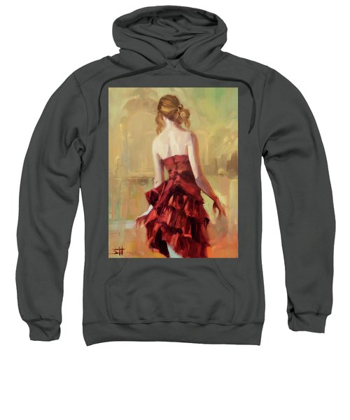 Girl In A Copper Dress II Sweatshirt