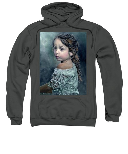 Girl In Lace Sweatshirt