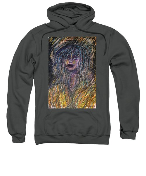 Girl With Hat Sweatshirt