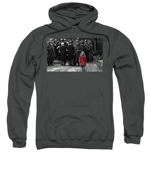Girl With Red Coat Publicity Photo Schindlers List 1993 Sweatshirt