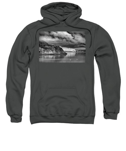Glacier Bay Alaska In Bw Sweatshirt