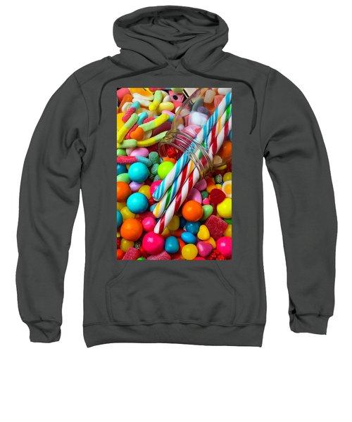Glass Jar Spilling Candy Sweatshirt