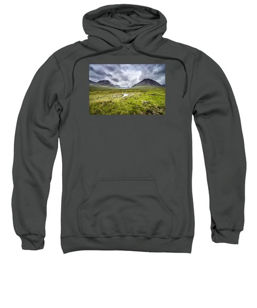 Sweatshirt featuring the photograph Glencoe by Jeremy Lavender Photography