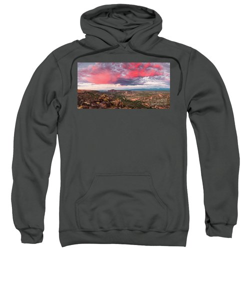 Glorious View Of Rio Grande, Sangre De Cristo And Black Mesa From White Rock Overlook - New Mexico Sweatshirt