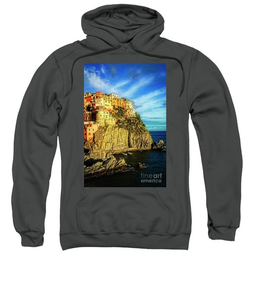 Sweatshirt featuring the photograph Glowing Manarola by Scott Kemper