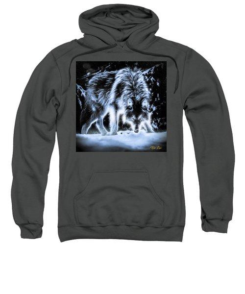 Glowing Wolf In The Gloom Sweatshirt