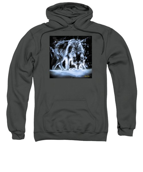 Glowing Wolf In The Gloom Sweatshirt