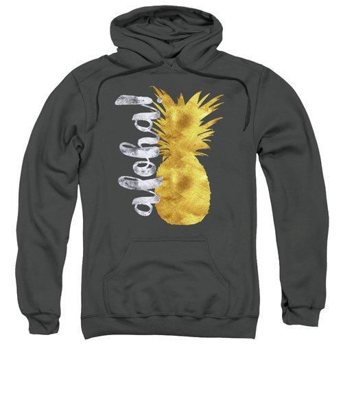 Gold And Silver Aloha Pineapple Tropical Fruit Of Hawaii Sweatshirt