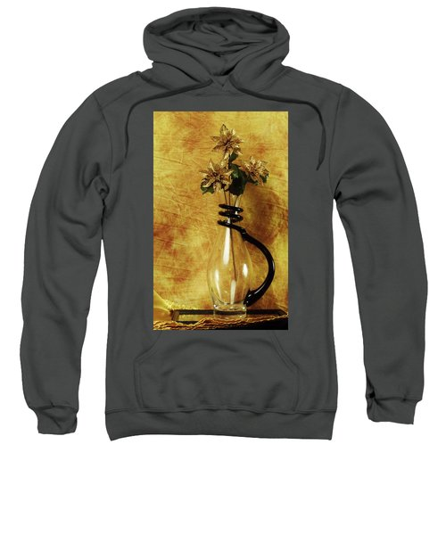 Gold Flowers In Vase Sweatshirt