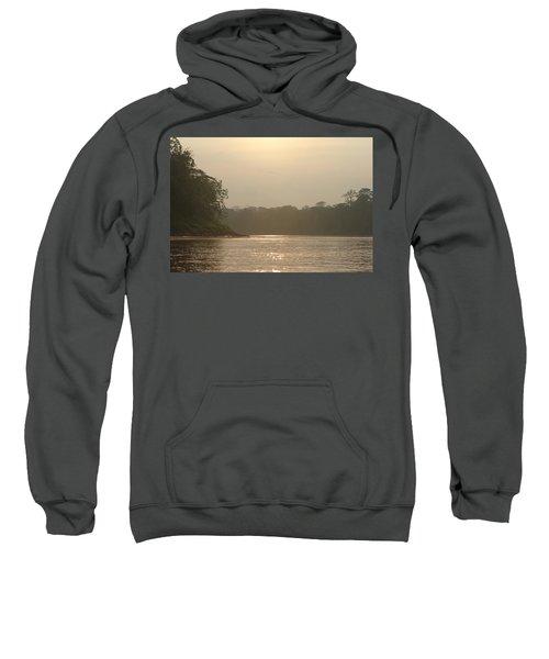 Golden Haze Covering The Amazon River Sweatshirt
