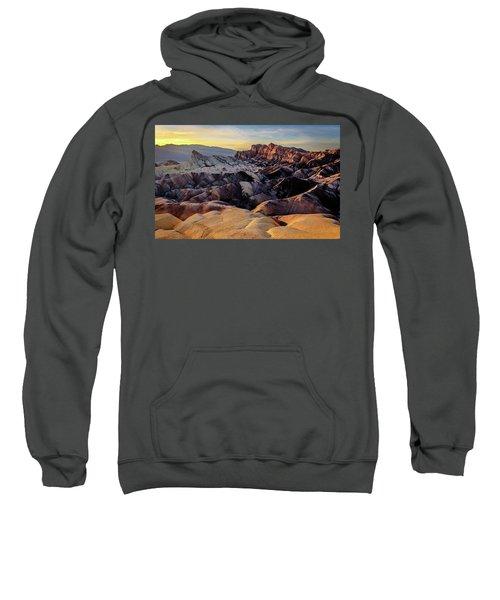Golden Hour Light On Zabriskie Point Sweatshirt