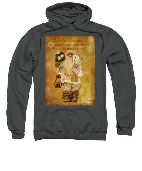 Golden Santa Card 2015 Sweatshirt