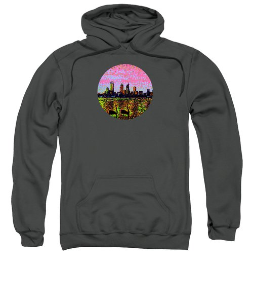 Golden Skyline Perth Sweatshirt by Alan Hogan