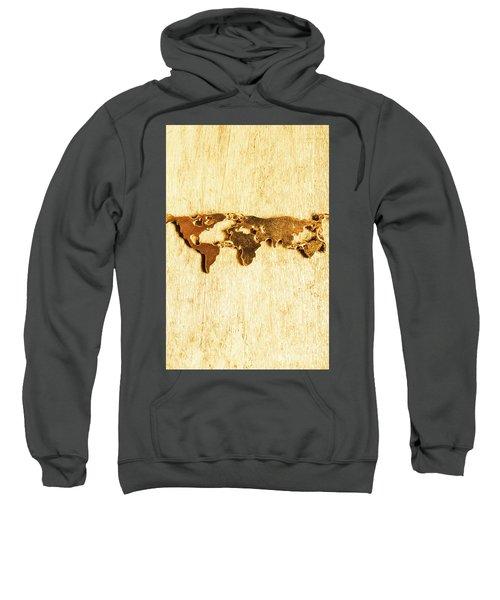 Golden World Continents Sweatshirt