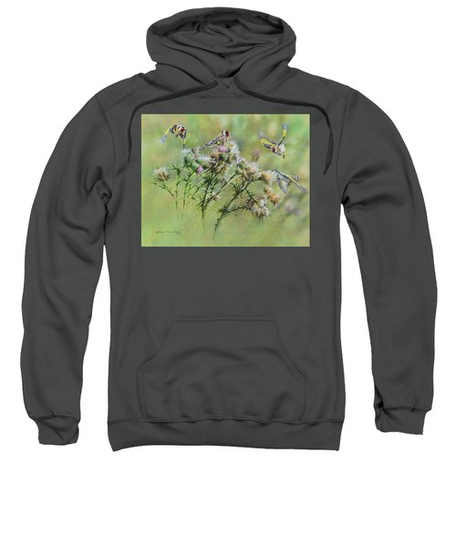 Goldfinches On Thistle Sweatshirt