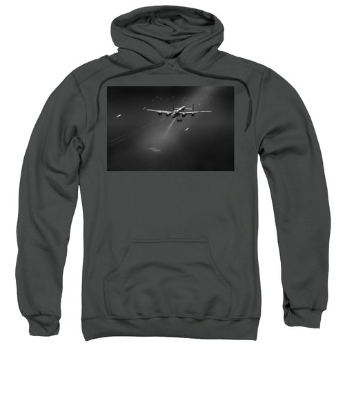 Sweatshirt featuring the photograph Goner From Dambuster J-johnny Bw Version by Gary Eason
