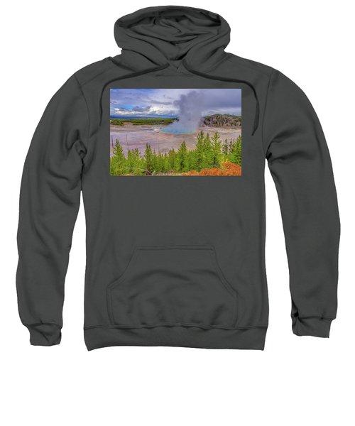 Grand Prismatic Spring Overlook Yellowstone Sweatshirt
