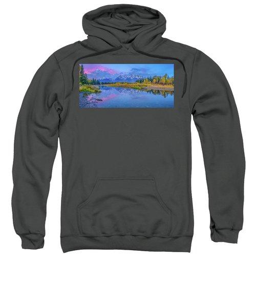 Grand Teton Sunrise Panoramic Sweatshirt