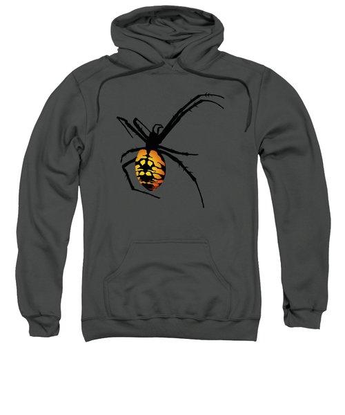 Graphic Spider Black And Yellow Orange Sweatshirt by MM Anderson