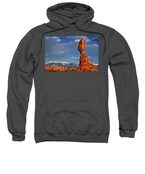 Gravity Defying Balanced Rock, Arches National Park, Utah Sweatshirt