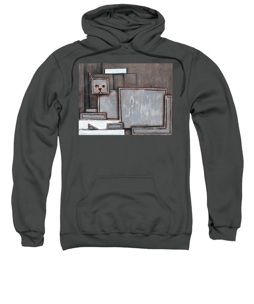 Tommervik Gray And White Cat Art Print Sweatshirt