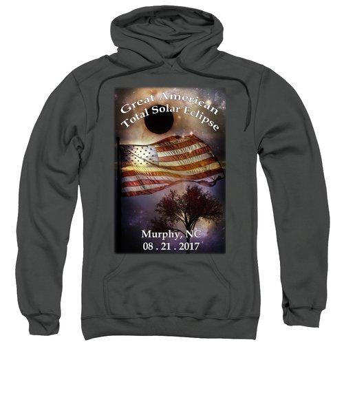 Great American Eclipse American Flag T Shirt Art Sweatshirt