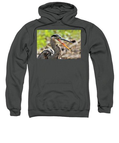 Great Blue Heron Tongue Sweatshirt
