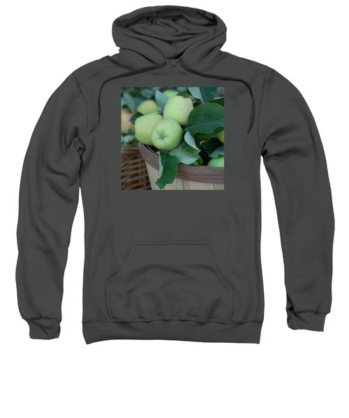 Green Apples In A Basket  Sweatshirt by Michael Moriarty