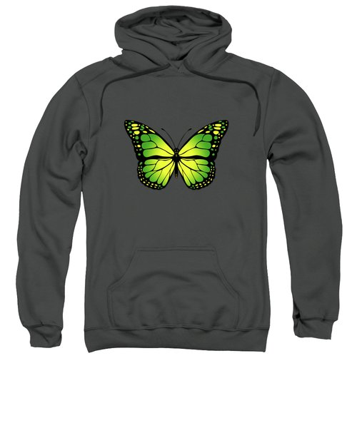 Green Butterfly Sweatshirt by Gaspar Avila