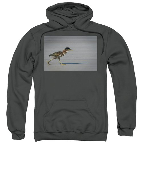 Green Heron On A Mission Sweatshirt