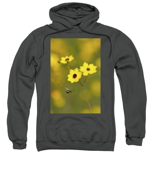 Green Metallic Bee Sweatshirt