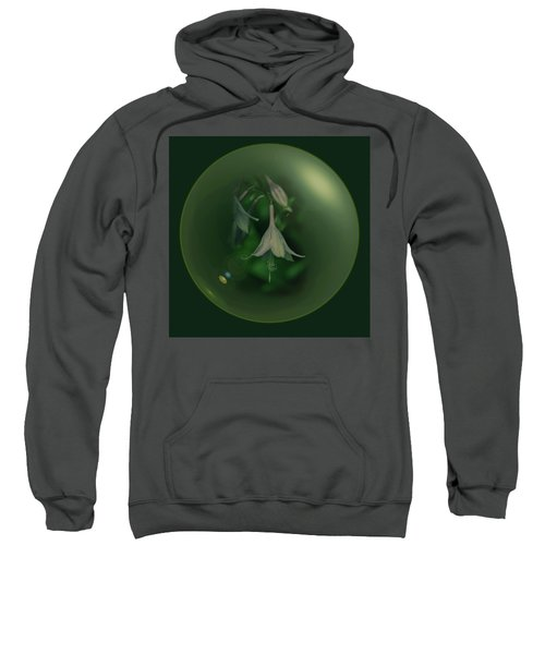 Green Orb Flower Sweatshirt