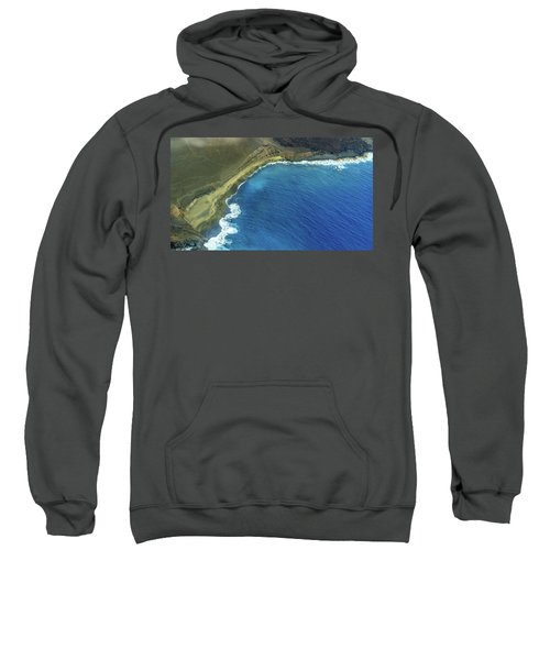 Green Sand Beach Aerial Sweatshirt