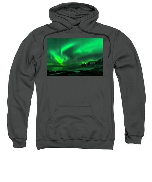 Green Skies At Night Sweatshirt