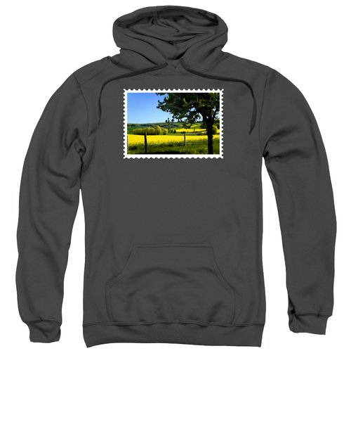 Greens And Golds Of Spring Farm Field Sweatshirt
