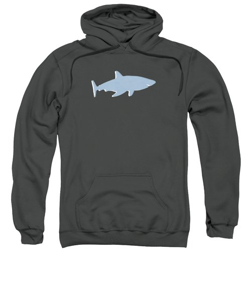 Grey And Yellow Shark Sweatshirt by Linda Woods