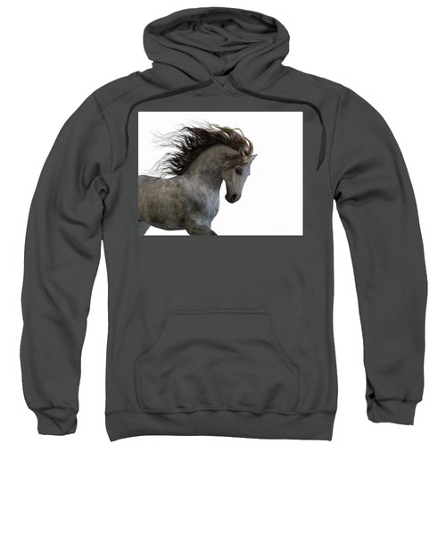 Grey On White Sweatshirt