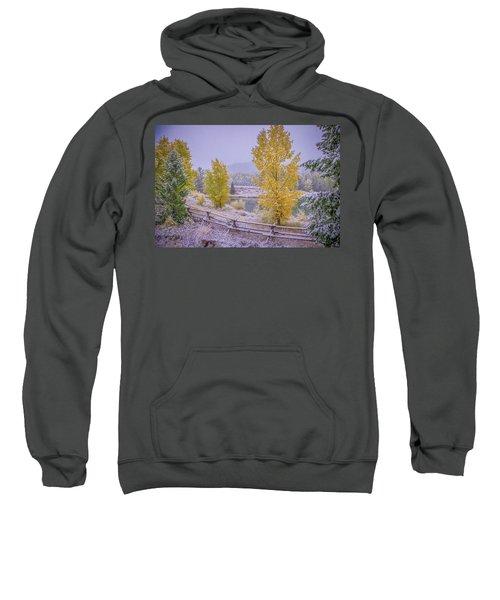 Gros Ventre Grand Teton Fall Snowfall Sweatshirt