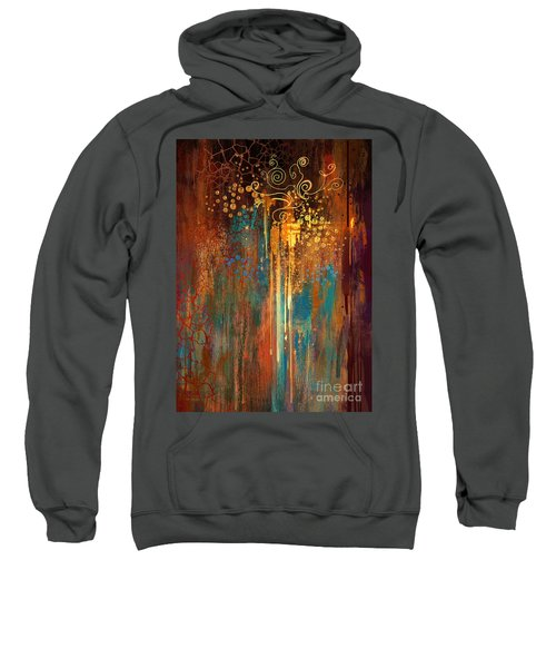 Sweatshirt featuring the painting Growth by Tithi Luadthong