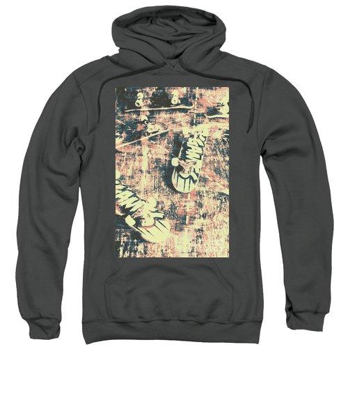 Grunge Skateboard Poster Art Sweatshirt