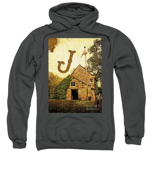 Grungy Melbourne Australia Alphabet Series Letter J Captain Jame Sweatshirt
