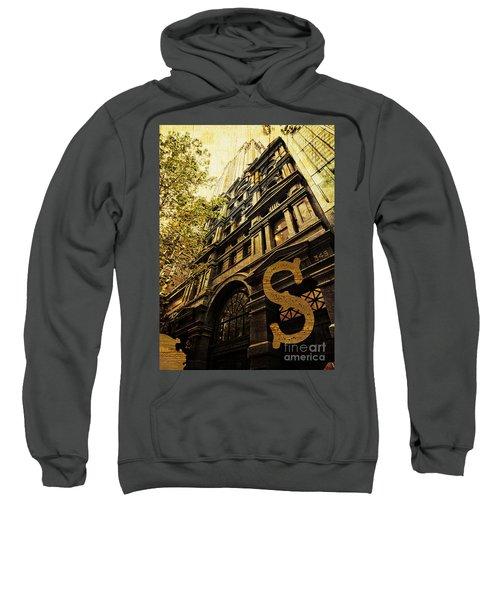 Grungy Melbourne Australia Alphabet Series Letter S Collins Stre Sweatshirt